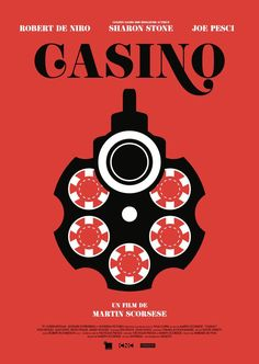 Casino, de Martin Scorsese (1996), avec Robert De Niro, Sharon Stone - affiche