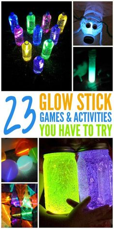 Games and Activities for the family using glow sticks!