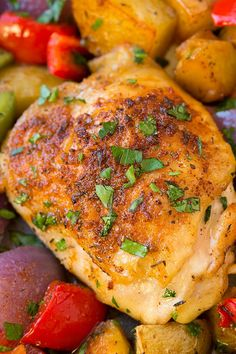 One Pan Cajun Chicken Dinner   Cooking Classy