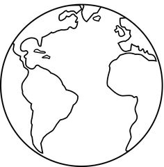 Black And White Drawing Of A Cartoon Earth Art Globe Drawing