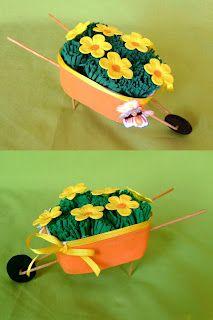 Viarts Artesanatos: Lembrança para o Dia dos Pais - Carrinho de mão feito com pote de margarina passo a passo