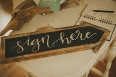 Sign in Table at a Dreamcatcher Baby Shower l KarasPartyIdeas.com #babyshower…