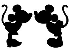 DIY Vinyl Iron On Minnie and Mickey Mouse Silhouette Applique - Iron On - diy kid room ideas,diy childrens room ideas,diy boy room ideas Mickey And Minnie Kissing, Mickey Y Minnie, Disney Mickey, Epic Mickey, Disney Plush, Disney Diy, Walt Disney, Minnie Mouse Stickers, Mickey Mouse Head