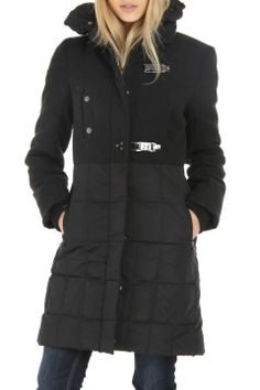 RD Style Mixed Puffer Coat In Black - [it's bitter cold today and i wish i had this]