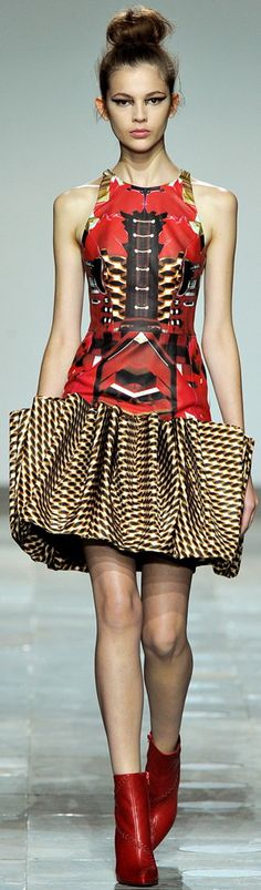 African inspired Mary Katrantzou ~African fashion, Ankara, kitenge, African women dresses, African prints, Braids, Nigerian wedding, Ghanaian fashion, African wedding ~DKK