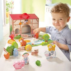 Haba My first Playworld - Large Boxed Farm set - all parts