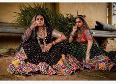 Black traditional rajasthani gujarati lehenga with mirror work Garba Chaniya Choli, Garba Dress, Navratri Dress, Lehnga Dress, Indian Designer Outfits, Indian Outfits, Rajasthani Lehenga, Mehendi Outfits, Indian Photoshoot