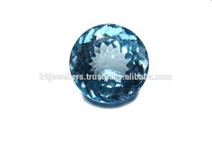 Round Fancy Cut Blue Topaz Natural Loose Gemstone Photo, Detailed about Round…
