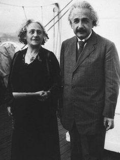 CELEBRITIES: Albert Einstein and his wife Elsa in 1919. They were first cousins.
