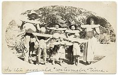 Citation: Jackson Pollock's family eating watermelon in Arizona, ca. 1914 / unidentified photographer. Jackson Pollock and Lee Krasner papers, Archives of American Art, Smithsonian Institution.