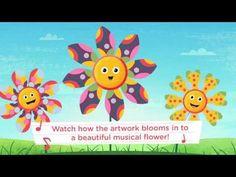 Kapu Bloom Tunes Lets Kids Paint and Grow Musical Flowers — Geeks With Juniors   kidsapps, interactive, music, art, educational, edu, fun, kids