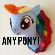 My Little Pony Faux Taxidermy you pick by MisfitMenagerie on Etsy, $25.00