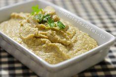 pateu de naut si ciuperci Vegan Food, Vegan Recipes, Spreads, Hummus, Food And Drink, Gluten, Dinner, Cooking, Ethnic Recipes