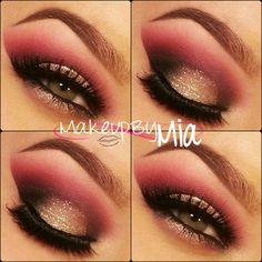 Smokey Eye with Glitter
