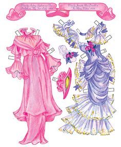 Costumes worn by Audrey Hepburn in My Fair Lady and Jeanette MacDonald in The Merry Widow. Page 5 of 8 Pages. By David Wolfe, Paperdollywood. Available for purchase at paperdollreview.com