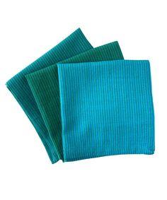 Turquoise Blue Green Hand-Woven Cotton Handkerchiefs by Indigomtnartandhome on Etsy
