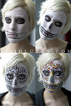 Morbid Fashion, Day of the Dead face paint.
