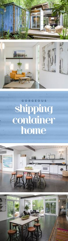 Take a tour inside this shipping container home. There's are lots of interior design ideas inside. You won't believe how large it actually is.