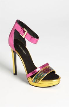 Nine West 'Firstmet' Sandal available at #Nordstrom - Love these for a pop of color!