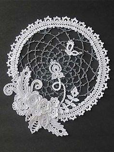 Irish Crochet Sampler Doily by Annie Potter - $7.99 pattern
