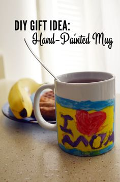 DIY Gift Idea for Mother's Day: Hand-Painted Mug