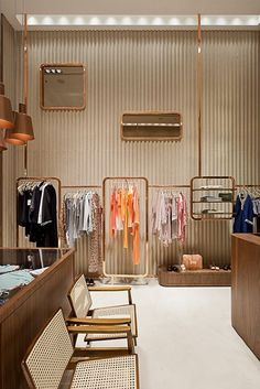 Design in sao paulo clothing store design, clothing store interior, womens Boutique Interior, Shop Interior Design, Retail Design, Design Garage, Shop Front Design, Design Café, Display Design, Shop House Plans, Shop Plans