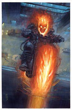 Ghost Rider by Nic Klein * Ghost Rider Johnny Blaze, Ghost Rider Marvel, Ghost Rider Wallpaper, Marvel Wallpaper, Marvel Comics Art, Marvel Heroes, Ms Marvel, Captain Marvel, Hulk Marvel