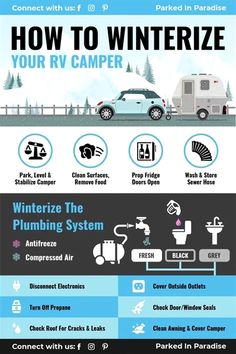 The best way to winterize an RV plumbing system with antifreeze or compressed air. Advice on sealing leaks, cleaning, RV covers, battery storage... #travel a lot, work to #travel, trav and cor, travel waterpik, travel bandaids bulk, travel essentials set, travel mug dishwasher safe, space travel activities for kids, travel adaptor for france, travel blog book, travel camera lens, travel clothes haul, travel electric toothbrush usb, amazon travel foot rest.