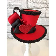 Queen of Hearts Mini Top Hat ❤ liked on Polyvore featuring accessories and hats