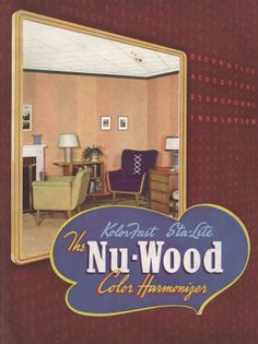 Nu-Wood Color Harmonizer, 1940.  Wood Conversion Co. From the Association for Preservation Technology (APT) - Building Technology Heritage Library, an online archive of period architectural trade catalogs. Select a material or era and flip through the pages of complete catalogs.