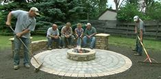 How to Build a Round Patio with a Fire Pit This Old House landscape contractor Roger Cook builds beautiful circular patio that features a chill-chasing fire pit.