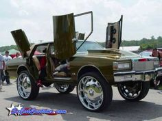 The Suicide Lambo back doors though~ via Shitty_Car_Mods Weird Cars, All Cars, Crazy Cars, Pimped Out Cars, Donk Cars, Caprice Classic, Pontiac, Fancy Cars, Nice Cars