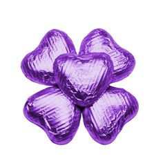100 Chocolate Hearts, Purple, £20.95