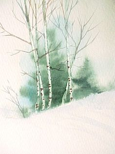Arbres et végétation : Le Petit Monde de Chris #LandscapeWatercolor