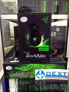 Promo bundle mouse and mousepad best seller dari razer:  Razer Deathadder 2013 + Goliathus Medium 2013 Control/Speed Harga super murah!! : Rp. 950.000,- (Pm us for very best Price) :D  (harga normal =  815rb + 260rb = Rp. 1.075.000,-) hemat: Rp. 125.000,-  Order: Hp/WA: 0817292129  BB: 23130092 Line: Dennisx DEXT Technologies : Online Technology Webstore www.dextmall.com