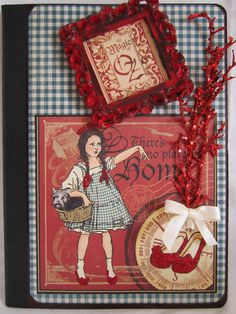 Purchase athttps://www.etsy.com/shop/IslandLillyDesigns.  Wizard of Oz  Altered Composition Journal by IslandLillyDesigns,
