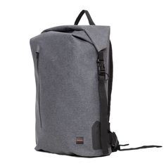"""Cromwell Men's 15"""" Roll Top Backpack - Grey   KNOMO"""