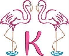 Monogrammed Towel - Flamingo Fun