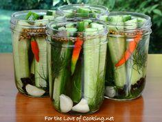 Quick Refrigerator Dill Pickles