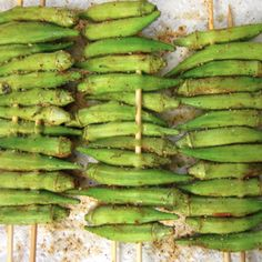 Southern Okra does not have to be battered and fried. Try this recipe for Cajun Grilled Okra instead. If this tastes good, it'll be another one of several ways I LOVE to eat okra! Okra Recipes, Cajun Recipes, Broccoli Recipes, Side Dish Recipes, Vegetable Recipes, Paleo Recipes, Real Food Recipes, Cooking Recipes, Grilling Recipes