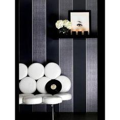 Graham & Brown 56 sq. ft. Bold Stripe Black Wallpaper