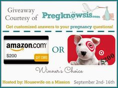 Welcome to the $200 Gift Card Giveaway, Hosted by Housewife on a Mission and sponsored by...