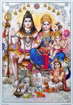 Lord Shiva And Family (Parvati, Lord Ganesha/Vinayaga and Lord Kartikeya/Muruga) 🕉 Shiva Shakti, Shiva Parvati Images, Mahakal Shiva, Shiva Statue, Lord Shiva Pics, Lord Shiva Hd Images, Lord Shiva Family, Lord Vishnu Wallpapers, Lord Ganesha Paintings