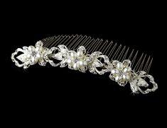 Elegant Crystal and Pearl Bridal Hair Comb - sale! Pearl Bridal, Bridal Hair, Budget Wedding, Wedding Ideas, Hair Comb, Wedding Accessories, Pearls, Bride, Crystals