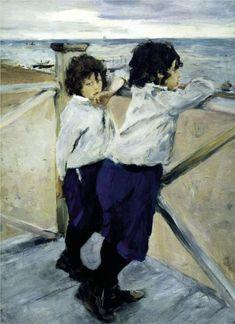 Children. Sasha and Yura Serov - Valentin Serov, 1899