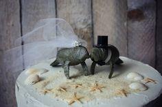 Manatee couple wedding cake topper-Beach wedding-Beach wedding topper-destination wedding-Manatees-wedding cake topper on Etsy, $38.00