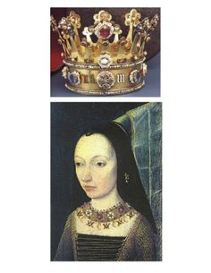 """CROWN: """"Margaret of York"""" (1446-1503) -- With silver-gilt, enamel, precious stones, & pearls; one of only two English crowns from the medieval regalia to have survived Cromwell's ravages. It was made to fit over Margaret of York's henin (conical headdress) & worn to her wedding to Charles the Bold (""""Duke of Burgundy"""") in July, 1468. _____________________________ Photos grouped by Dr. Veronica Lee, DNP (Depew/Buffalo, NY, US)"""