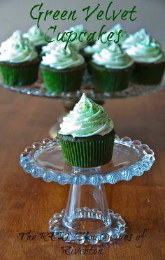 Green Velvet Cupcakes - St. Patrick's Day -