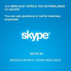 Skype: misseastafrica.thenetherlands