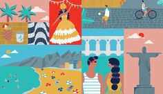 An illustration for the Brazilian MagazineAlmanaque Saraiva for an article about Rio celebrating its 450th birthday.